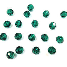 Emerald (205) Swarovski Elements 5000 Crystal Round Beads 4mm 6mm 8mm