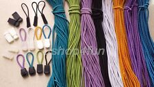 Nylon ParaCord Zipper Pulls Lanyard Zip Puller Cord Lock Cordlocks Replacement