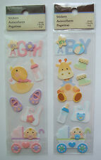 ~Your Choice~ Recollections ~IT'S A GIRL/BOY~ Dimensional Stickers; BABY newborn