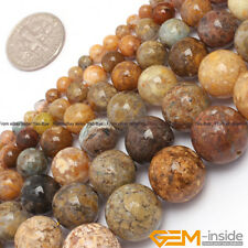 Natural Round Mixed Jasper Jewelry Making Loose Gemstone beads strand 15""