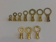 NON INSULATED BRASS RING EARTH CRIMP TERMINALS 4mm 5mm 6mm 8mm