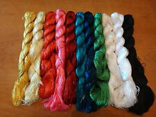 440 meters of 100% Silk Hand Dyed Embroidery Thread - Floss - Blackwork
