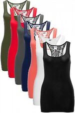 Neu Vero Moda Damen Lace Tank Top T-Shirt Spitze Women Top Color XS S M L XL