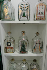 Vintage Holmegaard Christmas Bottles including Stopper - 1981-2008