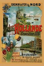1895 Exposition Amsterdam Holland Netherlands Trip Vintage Poster Repro FREE S/H