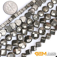 "Wholesale Lot Kinds Of Natural Pyrite Beads For Jewelry Making 15"" Strand"