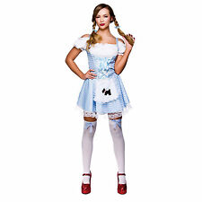 Womens Sexy Dorothy Fairytale Story Halloween Fancy Dress Costume Outfit New