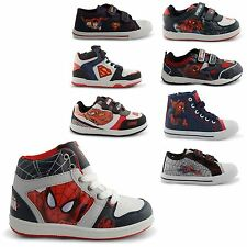 NEW KIDS BOYS AMAZING SPIDERMAN STREET TRAINERS RETRO CANVAS PUMPS UK SIZES 8-1