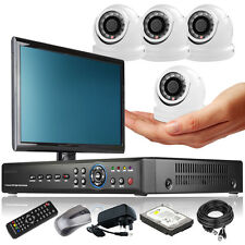 4 x Ultra Compacted Camera Full D1 8 CH DVR CCTV System iPhone Viewing Monitor i
