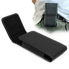 Black PU Leather Pouch Belt Clip Holster Case For Samsung Galaxy S V S5 i9600