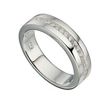 Sterling Silver Channel Set Clear Stone Eternity Ring *BAS/R714C