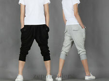 Fashion Men Trousers Casual Fitted Slim Short Sweat Pants Hip-Hop Jogger Sports