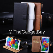 Luxury Genuine Real Leather Flip Case Wallet Cover For Samsung Galaxy Fame S6810