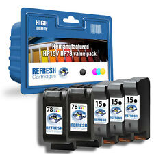 REMANUFACTURED HP 15 / HP 78  HIGH CAPACITY INK -5 CARTRIDGE EVERYDAY VALUE PACK