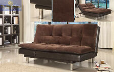 BMH299 Leather sofa couch Futon sofa/Bed Adjustable Microfiber sofa sleeper NEW