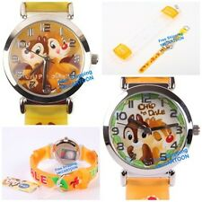 BRAND NEW DISNEY CHIP & DALE 3D GRAPH SOFT BAND CHILD WATCH