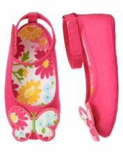 """NWT GYMBOREE """"Spring Blossom"""" Pink Butterfly Crib Shoes, Size 0 3 6 12 18 Months"""