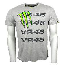 2014 Official Valentino Rossi Monster Energy Repeat  VR46 T-shirt Grey
