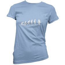 Evolution Of Man Ironing - Womens / Ladies T-Shirt - Iron - Cleaning -11 Colours