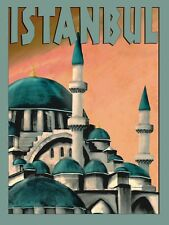 See Istanbul Largest City Turkey Travel Tourism Vintage Poster Repro FREE S/H