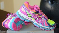 ASICS GEL-NIMBUS 15 SAFETY YELLOW/BERRY PURPLE PINK WOMEN'S RUNNING SHOES T3B5Q
