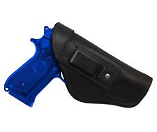New Barsony Black Leather IWB Gun Holster for Steyr Walther Full Size 9mm 40 45