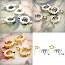 10g Brass Spring Ring Clasp 10/11mm Necklace Jewelry Making Finding Wholesale
