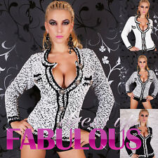 NEW SEXY 8-14 WOMEN'S JUMPER JACKET TRENDY CARDIGAN KNITTED TOP STYLISH CLOTHING