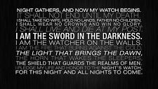 Game Of Thrones Night Gathers Sword Quote POSTER FRAMED ON CANVAS & MOUNTED