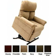 Fawn Tan Easy Comfort LC-100 Power Electric Lift Chair Recliner Heat & Massage