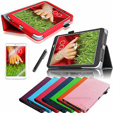 "For LG G Pad Verizon LTE VK810 8.3"" Folio Leather Case Cover/Protector/Stylus"