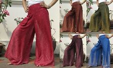 Vintage Wide Leg Palazzo Pants Trousers Yoga Dance Bohemian Gypsy Hippie Boho 02