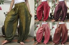 Harem Wide Leg Yoga Pants Trousers Free Size Beach Dance Boho Bohemian Hippie