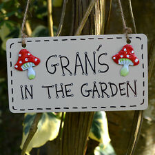 Grans In The Garden Shed Greenhouse Plaque Sign Gardener Gardening Gift Present