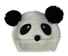 Top Unisex Winter Warm Baby Toddler Kid Panda Cute Hat Knit Beanie Cap Xmas 0024