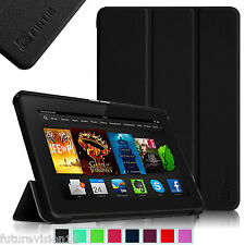 "Leather Case Cover For Amazon Kindle Fire HDX 7"" inch 2013 Model NEW Wake/Sleep"