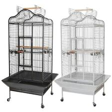 Large Parrot Bird Cages House Open Playtop Dome Top Option Pet Supply
