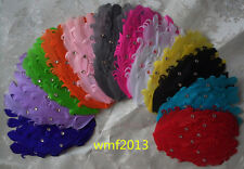 Beautiful ! curls curly feather pad 12 colors choose 10x15cm