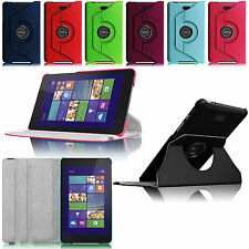 360 Rotating Stand Leather Case Cover for Dell Venue 8 Pro Windows 8.1 Tablet