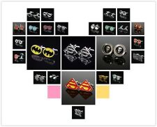 Classic Men's Novelty Cufflinks Super Hero Spiderman Batman Smooth Cuff Links