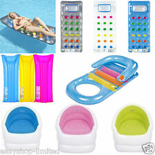 Inflatable Pool Lounger Lilo Float Chair Swimming Pool 18 Pocket Fashion Lounger