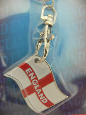 Key Ring England St George Cross Flag Football World Cup Cricket Rugby Sport