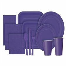 Party Ware, paper plates, bowls, plastic table cloths, cutlery and bags.