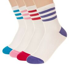 Womens Cute & Stylish Striped Hem Ankle Socks KPOP Star Schoolgirl Cheerleader