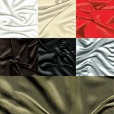 """Faux Leather Leatherette Upholstery Fabric Material Fire Retardant Vinyl 54"""" 1M"""