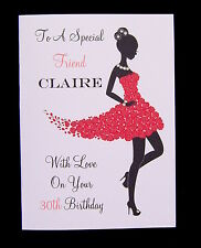Personalised Birthday Card Mum Sister Daughter Friend Cousin Niece LARGE SIZE