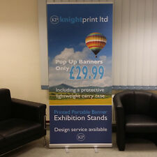 Pop up banner & 1000 flyers & business cards - exhibition stand - leaflets