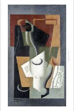 "JUAN GRIS ""Glass And Bottle"" abstract ON CANVAS choose SIZE, from 55cm up, NEW"
