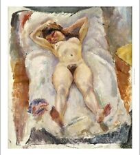 """JULES PASCIN """"Lounging Nude"""" Nude Woman ON CANVAS choose SIZE, from 55cm up, NEW"""