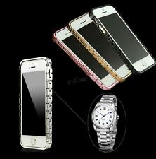 For Apple IPhone 5 5S Aluminum New Metal Frame Bumper Watch Chain Case Cover Man
